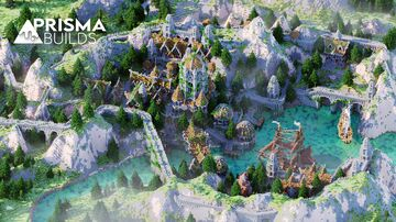 🌾 Medieval Countryside Lobby | BigSpawn | 500x500 | PrismaBuilds 🌾 Minecraft Map & Project