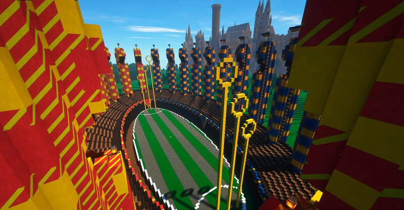 Quidditch Pitch with Castle