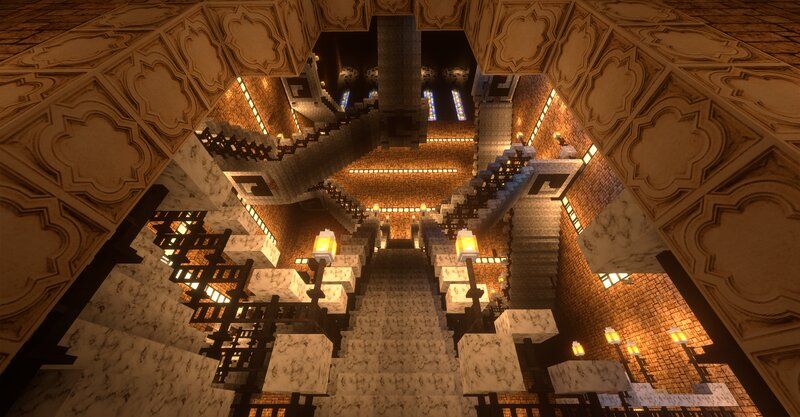 Moving Staircase I pretend to me them really move using command blocks but i haven't started yet