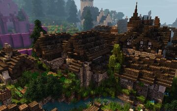 [1.14.3] Raven's Cliffs Medieval Town - Upper District #weareconquest Minecraft Map & Project
