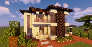 Modern House #117  (Map + Schematic) Minecraft Map & Project