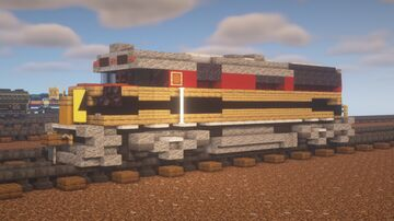 """Kansas City Southern - EMD F40PHR """"Panama Canal Railway Leased Power"""" Minecraft Map & Project"""