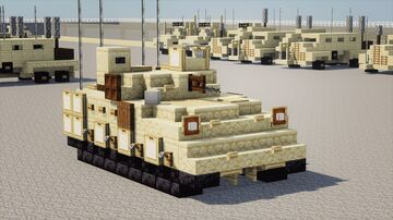M2A2 Bradley Fighting Vehicle Minecraft Map & Project