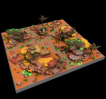 Mesa Plateau KOTH [100x100] Minecraft Map & Project