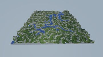 4000x4000 Mountains/Rivers Terrain Map [Free Download/use for your own projects] Minecraft Map & Project