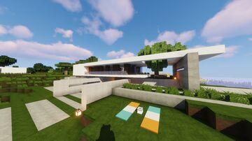 Modern House Tutorial   Brook Minecraft Map & Project