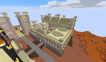 0AD Kushite (Nubian) Barracks Minecraft Map & Project