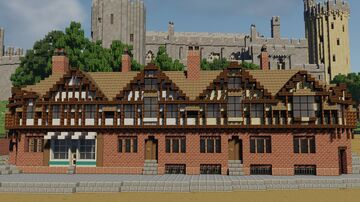 Tudor Revival Post Office Minecraft Map & Project