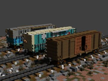 3 pack 40ft' boxcars Minecraft Map & Project