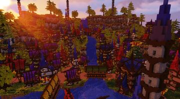 The Elven City of Falshire ~ A D'n'D City & 'FBC' Contest Entry Minecraft Map & Project