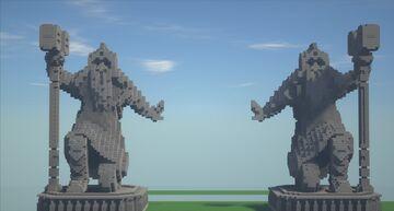 Dwarven statue | Khazad Dûm Minecraft Map & Project