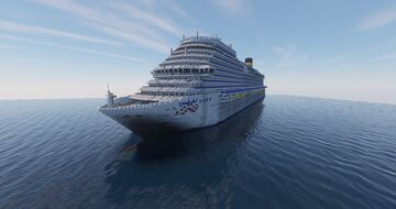 COSTA FIRENZE | CRUISE SHIP REPLICA IN MINECRAFT 1:1 SCALE EXTERIORS ONLY Minecraft Map & Project