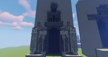 A Tall Gate to a Dwarven Kingdom Guarded By Stone Dwarves Minecraft Map & Project