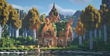 An enchanted fairytale cottage in a forest clearing 💐🧚♀️✨ Minecraft Map & Project