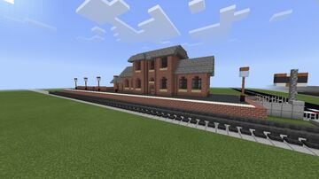 Traditional British Train Station Minecraft Map & Project
