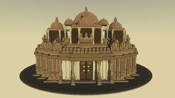 Hindu temple (inspired by Swaminarayan Akshardham) Minecraft Map & Project