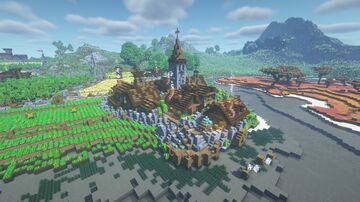 Riverton - A Medieval Village + Farmlands Minecraft Map & Project