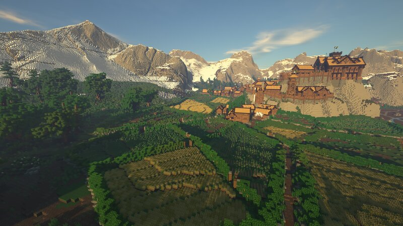 The farms beneath Grimslade.