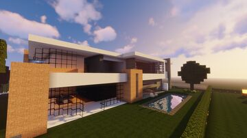 Boxy Modern House Minecraft Map & Project