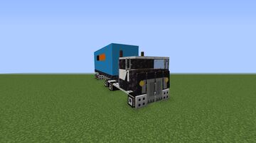 Truck with trailer and container Minecraft Map & Project