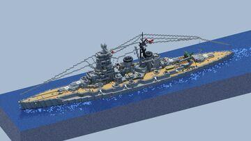 Japanese battleship Kongo 金剛 (1944 configuration) Minecraft Map & Project
