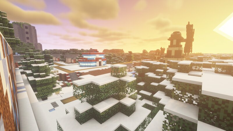 Icirrus City and Dragonspiral Tower behind