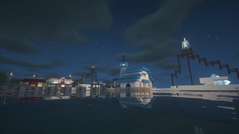 Olivine City at night !