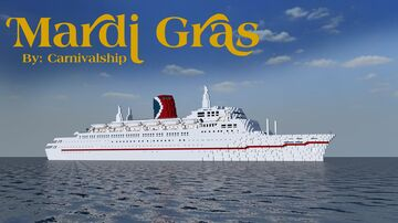 TSS Mardi Gras - 1:1 Scale Replica (Exterior Only) 1.12.2 (Empress of Canada) POP REEL! Minecraft Map & Project