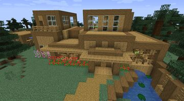 Modern wooden house Minecraft Map & Project