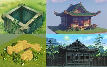 Bone-Eater's Well + Higurashi Wellhouse | Inuyasha | 1.17 Minecraft Map & Project