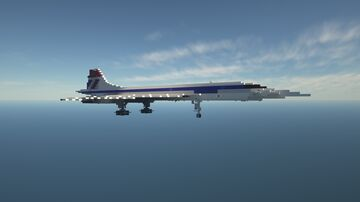 Aérospatiale/BAC Concorde | 1.5:1 Scale | Full Interior | Download Minecraft Map & Project