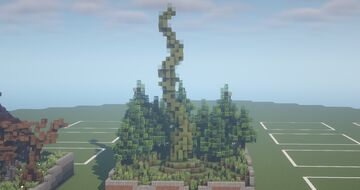 Beanstalk - One Build a Day Challenge (Plant Organic day) [Week 1 Day 2] Minecraft Map & Project