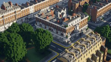 English Row Houses - London (1:1 Scale) Minecraft Map & Project