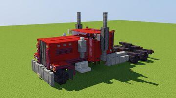 Chonky Semi Truck Minecraft Map & Project