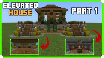 How To Build An Elevated House | Storage & Barn | Part 1 Minecraft Map & Project