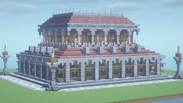 Medieval Bathhouse Minecraft Map & Project