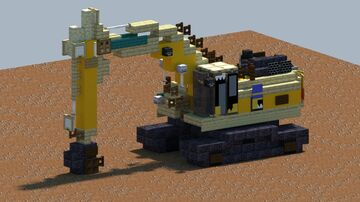 Komatsu PC390LC-11, Excavator [With Download] Minecraft Map & Project