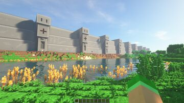 Huge Border Wall Minecraft Map & Project