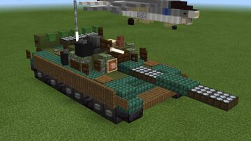 1.5:1 scale T-80 (1976) Minecraft Map & Project