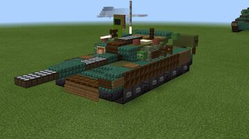 1.5:1 scale T-80BV Minecraft Map & Project