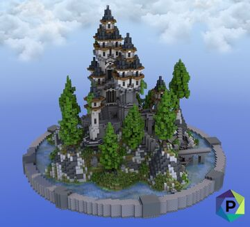 Hilltop Tower Hub | 1.8+ Minecraft Map & Project