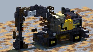 Volvo EW220E, Wheeled Excavator  [With Download] Minecraft Map & Project
