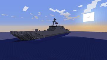 DDG-81 Winston S. Churchill Arleigh Burke Destroyer Minecraft Map & Project