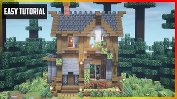 ⚒️ Minecraft: Beautiful Farmer's House with Interior   Easy Tutorial Minecraft Map & Project