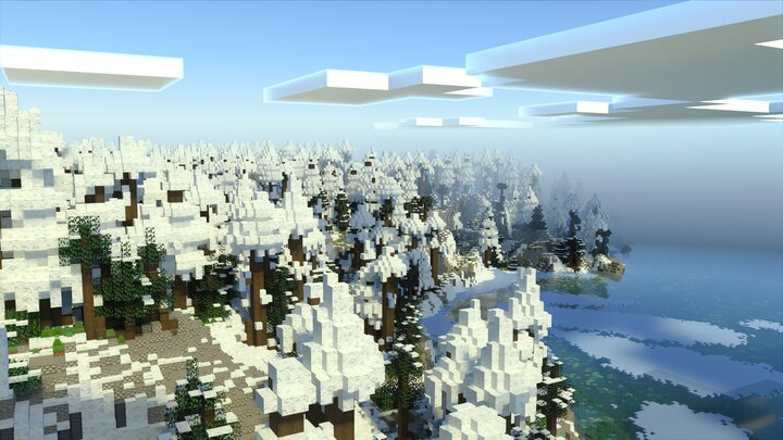Arctic Forest coast  - Bedrock Screenshot