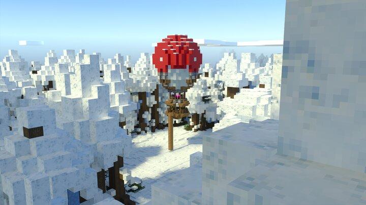 Arctic Forest Baloon Landing Sight - Bedrock Screenshot