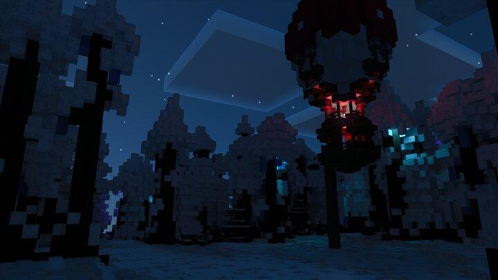 Night Arctic Forest Baloon Landing Sight - Bedrock Screenshot