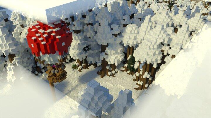 Arctic Forest Baloon Landing Sight Top Down - Bedrock Screenshot