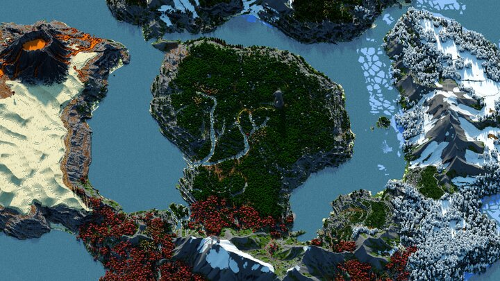 Ixellior Map Closer Central View - Chunky render