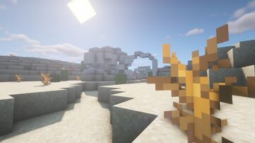 Dinosaur bones in the desert Minecraft Map & Project